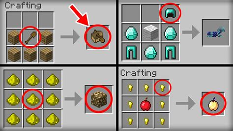 minecraft  crafting recipes  changed youtube