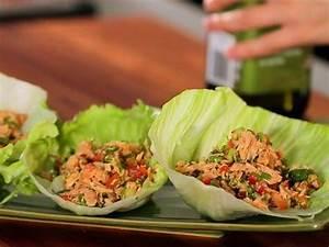 no carb snacks healthy tuna and lettuce cups popsugar