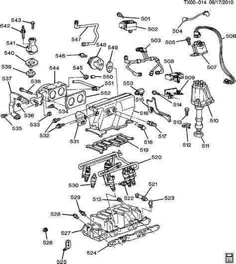 1997 S10 Engine Diagram by Chevrolet S10 Engine Asm 4 3l V6 Part 5 Manifold Fuel