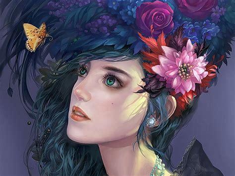 750x1334 beautiful 3d flower cg green 3d abstract artistic beautiful