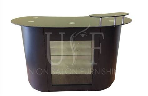 salon reception desk with glass display a trendy reception desk with glass top glass display