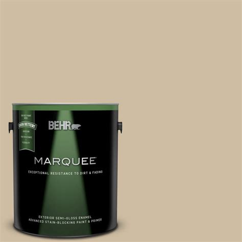 behr marquee 1 gal ppu8 10 rye bread gloss enamel exterior paint and primer in one 545401