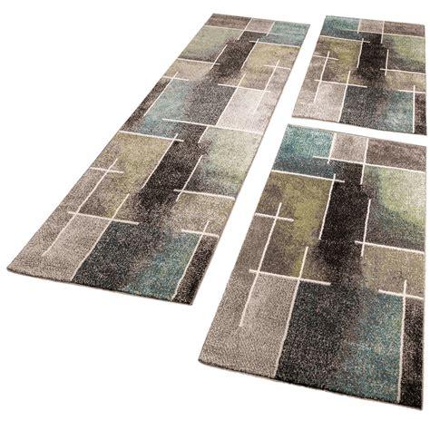 tour de lit tapis de couloir moderne multicolore gris