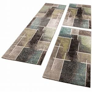 tour de lit tapis de couloir moderne multicolore gris With tapis de lit