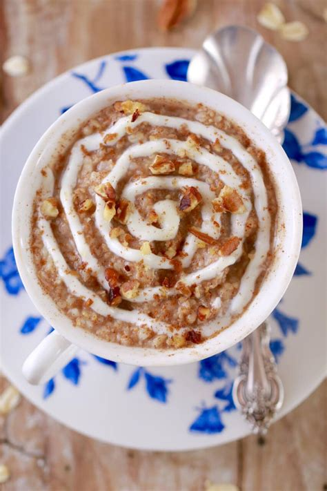 microwave cinnamon roll oatmeal   mug microwave mug