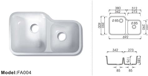 solid surface kitchen sinks china solid surface kitchen sink fa004 china acrylic