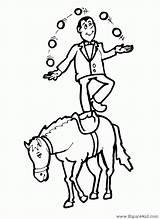 Circo Cirque Dibujos Juggler Colorear Horse Coloring Coloriage Caballos Cavalli Disegno Imprimir Imprimer Colorier Jugar Coloriages Zip Fantasia Colorare Drawings sketch template
