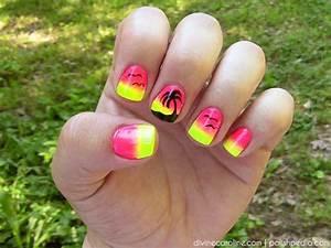 Summer Nail Art: Sunset Palm Tree Nail Design | more.com