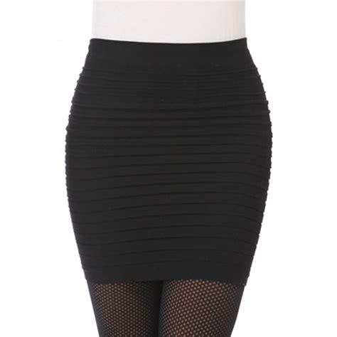 rok wanita yuna rok mini wanita slim hip skirt all size black