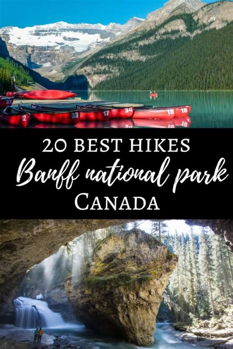 banff national park canada hikes parks hiking canadian popular usa map travel backpacking alberta rockies read hike trip