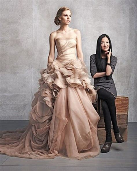 Vera Wang Dusty Pink Organza Ball Gown 112812 The Dusty