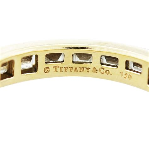 tiffany   baguette cut eternity band  yellow gold