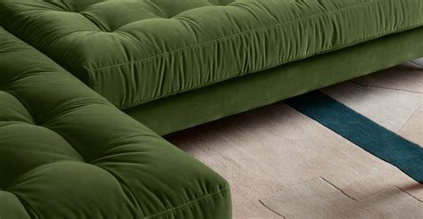 chaise ée 70 4 seater left facing chaise end sofa grass