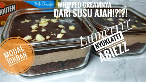 Well, usually this dessert requires you to separate eggs, make a custard, then fold that into another mixture with whipped cream and mascarpone cheese — and. DESSERT BOX COKLAT BONUS RESEP WHIPPED CREAM HOMEMADE ...