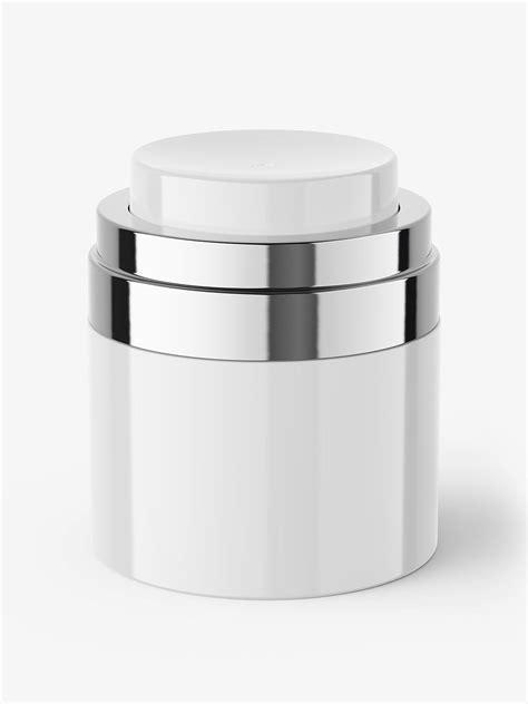 Free plastic spray bottle mockup. Airless jar mockup - Smarty Mockups