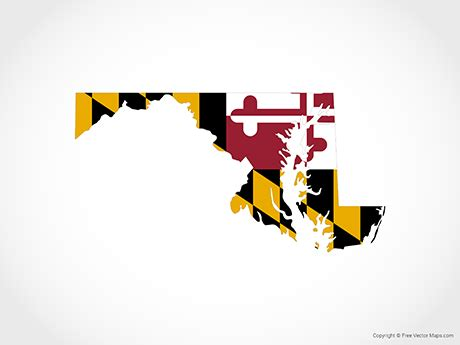 Get crafting with your cricut or any other cutting machines for crafty projects. Vector Map of Maryland - Flag | Free Vector Maps