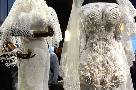 stunning  printed wedding dresses  future
