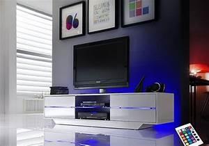 Meuble Tv Led Conforama : meuble tele led meuble chaine hifi bois trendsetter ~ Dailycaller-alerts.com Idées de Décoration