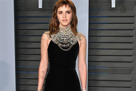 Emma Watson Sports Time Tattoo After The Oscars
