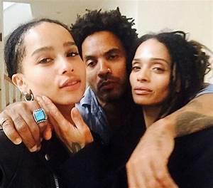 Lenny Kravitz, Lisa Bonet and their daughter, Zoe ...