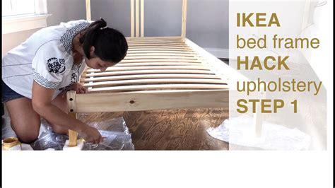 Ikea Bed Frame, Headboard Hack (step 1)