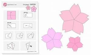 Origami Sakura Cherry Blossom Diagram