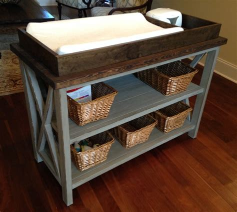 ana white rustic  diy changing table diy projects