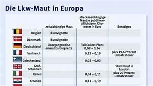 Italien Maut Berechnen : hintergrund starke europ ische konkurrenz f r deutsche lkw maut wirtschaft faz ~ Themetempest.com Abrechnung