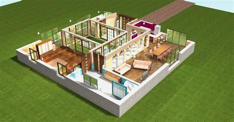 plan de maison de plain pied avec 3 chambres plan maison 3d plain pied images