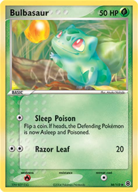 Meanwhile, team rocket has discovered the area and plans to snatch the weak pokémon. Bulbasaur | EX Fire Red & Leaf Green | TCG Card Database | Pokemon.com