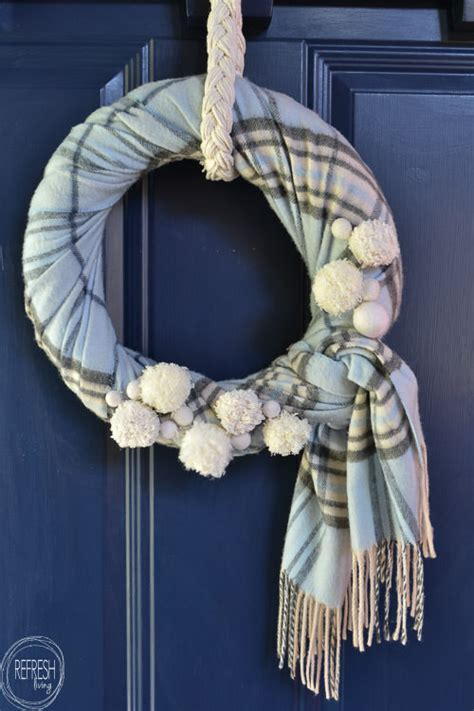 winter wreath    scarf refresh living