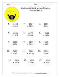 long addition  subtraction worksheets bing images