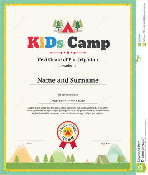 Stem Certificate Template by Certificate Template In Vector For Cing
