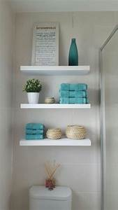 Home decor outstanding bathroom shelves ideas images for Kitchen cabinets lowes with bathroom wall art pinterest