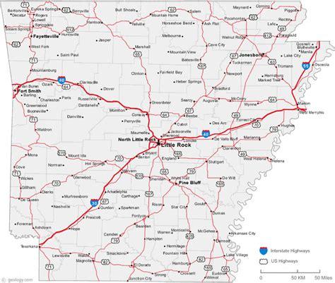 Map of Arkansas Cities - Arkansas Road Map