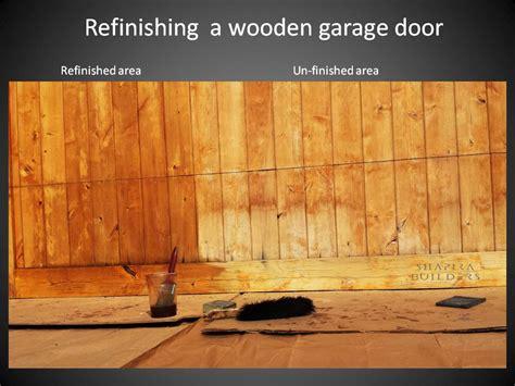 refinishing garage overhead wooden door
