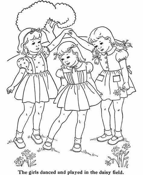 Cute Little Girls Coloring Pages Coloring Home