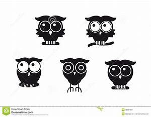 Graphic Owls Stock Image - Image: 18491831
