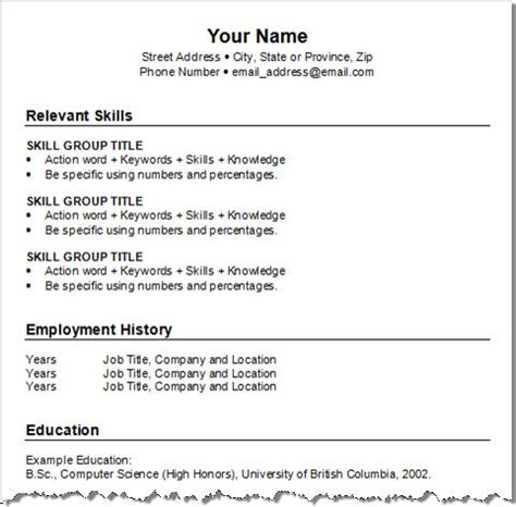Free Combination Resume Template by Get Your Resume Template Three For Free Squawkfox