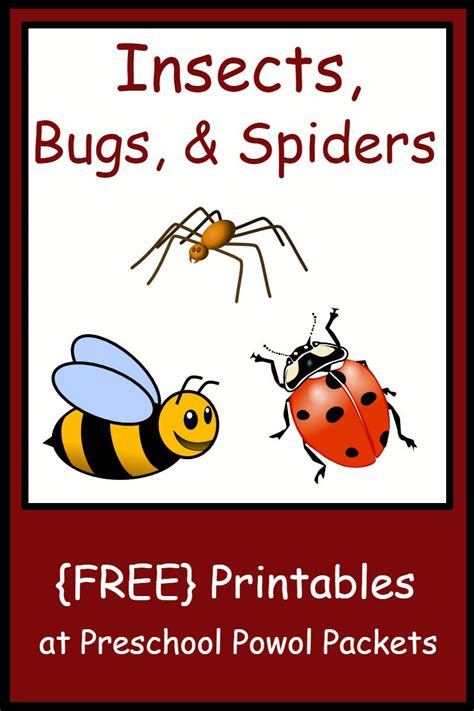 insect bug amp spider themed free preschool printables 987 | 4ce2518a6e786634e5ba47e41df7c53e