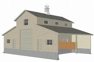 16 x 40 shed plan nolaya With 24x36 pole barn plans