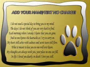 Pet Loss Poems Dogs