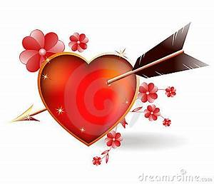 Heart Pierced By An Arrow Cupid. Stock Images - Image ...