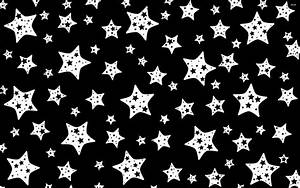 Black and white star pattern wallpaper - 1021699