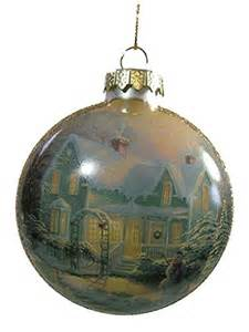 Thomas Kinkade Christmas Tree Ornaments by Thomas Kinkade Satin Ball Glass Ornament Blessings Of