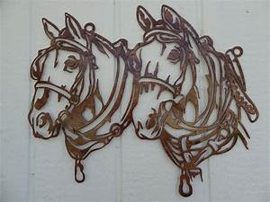 Wall art ideas design horse head metal designs