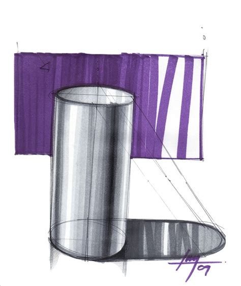 shiny cylinder  shadow  background industrial