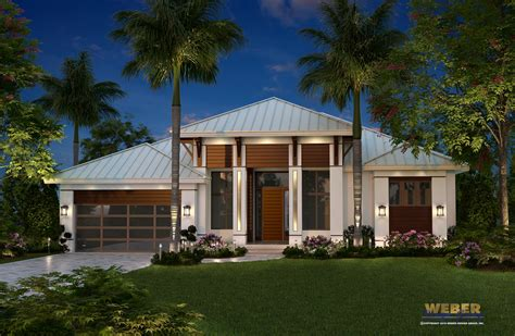 Contemporary Caribbean Beach Home Floor Plan
