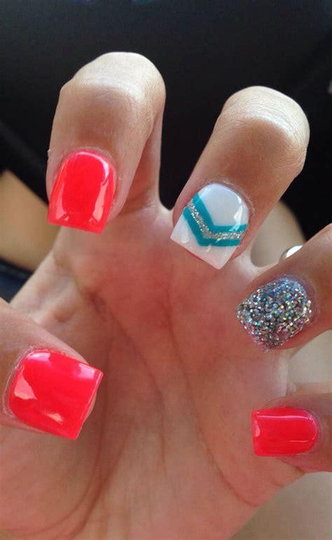nail spring designs summer nails short perfect acrylic cute bright toe gel fake pretty nice july