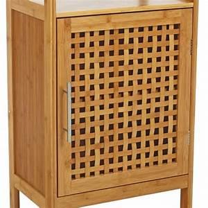 Meuble Bambou Salle De Bain : meuble bas de salle de bain bambou meuble bas eminza ~ Teatrodelosmanantiales.com Idées de Décoration